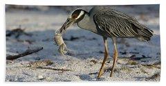 Crab For Breakfast Beach Towel