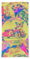Crafty Car Commercial Beach Towel