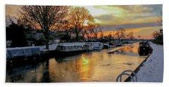 Cranfleet Canal Boats Beach Towel