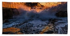 Beach Towel featuring the photograph Crash by Jeff Sinon