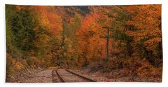 Crawford Notch Scenic Railway Autumn Beach Towel