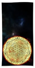 Beach Towel featuring the digital art Creative Force by Bee-Bee Deigner