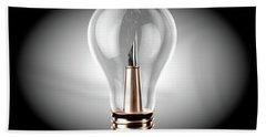 Creativity Light Bulb Concept Beach Towel