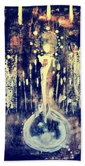 Beach Towel featuring the painting Creatrix by 'REA' Gallery