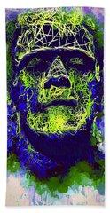 Frankenstein Watercolor Beach Towel
