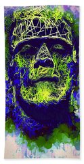 Frankenstein Watercolor Beach Sheet