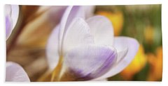 Beach Towel featuring the photograph Crocus by Whitney Goodey