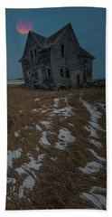 Beach Towel featuring the photograph Crooked Moon by Aaron J Groen