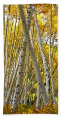Crossed Aspens Beach Towel