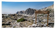 Crossroads At Medicine Bow Peak Beach Towel