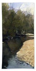 Crow Creek, Augusta, Missouri Beach Towel