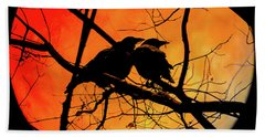 Crows Moon Beach Towel
