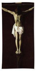 Crucified Expiring Jesus, 1640 Beach Towel
