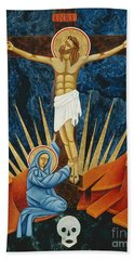 Crucifixion By Jodi Simmons Beach Towel