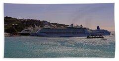 Cruise Ships Beach Towel