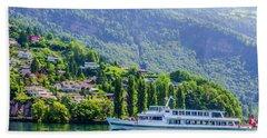 Cruising Lake Lucerne Beach Towel