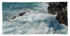 Crushing Waves In Porto Covo Beach Towel