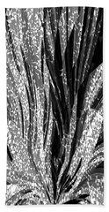 Crystal Floral Black Opposite Beach Towel