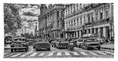 Cuba Traffic Beach Towel