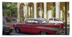 Cuban Chevy Bel Air Beach Sheet