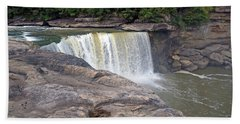 Beach Sheet featuring the photograph Cumberland Falls In The Evening by Mike Murdock