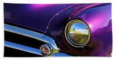 Beach Towel featuring the photograph Custom Purple Chevy by David King