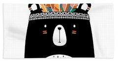Cute Tribal Bear - Boho Chic Ethnic Nursery Art Poster Print Beach Sheet