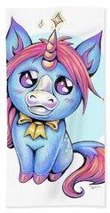 Cute Unicorn I Beach Towel