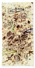 Cycling Abstracts Beach Towel