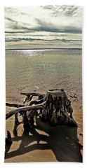 Cypress On The Beach Beach Towel