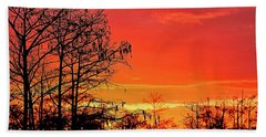 Cypress Swamp Sunset 2 Beach Towel