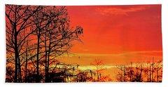 Cypress Swamp Sunset 2 Beach Sheet