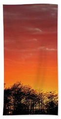 Cypress Swamp Sunset 4 Beach Towel