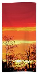 Cypress Swamp Sunset 5 Beach Towel