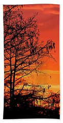 Cypress Swamp Sunset Beach Towel