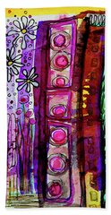Beach Towel featuring the mixed media Daisy Field by Mimulux patricia No