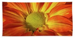 Daisy Mum In Orange And Yellow Beach Towel