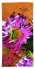 Daisy Rhapsody In Lavender And Pink Beach Towel