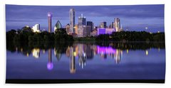 Beach Towel featuring the photograph Dallas Cityscape by Robert Bellomy