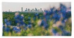 Dallas County Bluebonnets Beach Towel