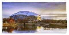 Dallas Cowboys Stadium Arlington Texas Beach Towel