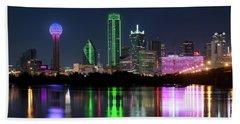 Dallas Reflection Pano 022719 Beach Sheet