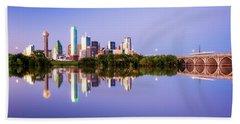 Dallas Texas Houston Street Bridge Beach Towel
