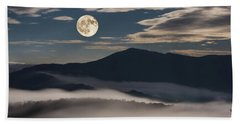 Dance Of Clouds And Moon Beach Sheet
