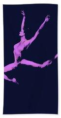 Dancer In The Dark Blue Beach Towel