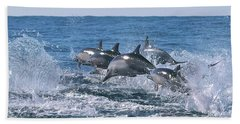 Dancing Dolphins Beach Towel