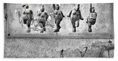 Dancing Venus - Naked Crones Black And White Beach Towel
