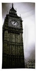 Dark Big Ben Beach Towel
