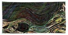 Dark Rainbow Beach Towel