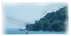 Dartmouth Castle Painting Beach Towel